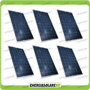 Stock 6 Pannelli Solari 200W 12V