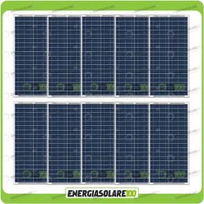 Stock 10 Pannelli Solari 30W 12V