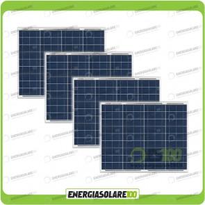 Stock 4 Pannelli Solari 50W 12V