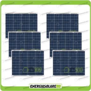 Stock 6 Pannelli Solari 50W 12V