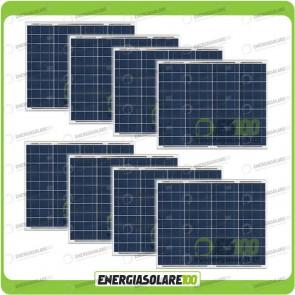 Stock 8 Pannelli Solari 50W 12V