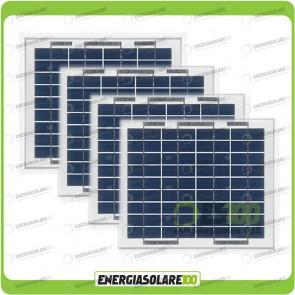 Stock 4 Pannelli Solari 5W 12V