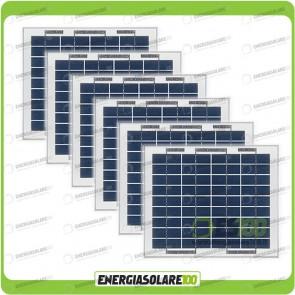 Stock 6 Pannelli Solari 5W 12V