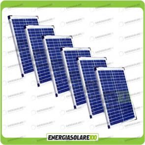Stock 6 Pannelli Solari 20W 12V