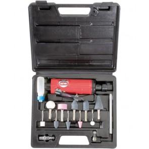 smerigliatrice pneomatica diritta con 10 molette in valigetta 1553013