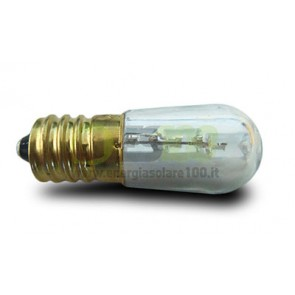 Set di 3 Lampadina Votiva a Led 0.3Watt 12V dc-ac 24V dc E14 a Luce Calda