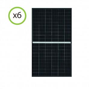 Set 2 Pannelli Solari Fotovoltaico 375W 24V Tot. 750W Monocristallino 9 BUS BAR
