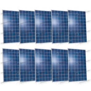 Set 10 Pannelli Solari Fotovoltaici 280W Extra-Europeo 30V tot. 2800W Casa Baita Stand-Alone