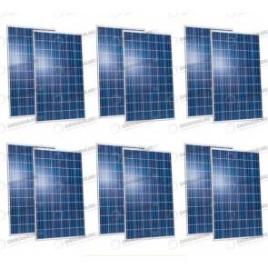Set 4 Pannelli Solari Fotovoltaico 1080W Europeo 30V tot. 540W Casa Baita Stand-Alone