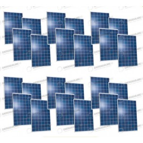 Set 24 Pannelli Solari Fotovoltaici 280W Extra-Europeo 24 tot. 6720W Casa Baita Stand-Alone