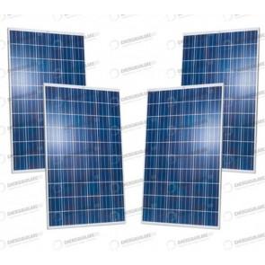 Set 4 Pannelli Solari Fotovoltaici 280W policristallino 30V tot. 1120W Casa Baita Stand-Alone