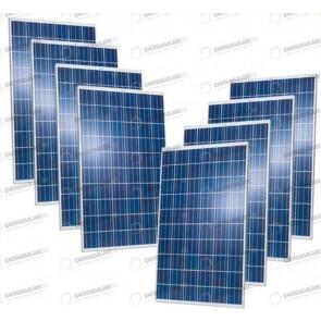 Set 8 Pannelli Solari Fotovoltaici 280W Extra-Europeo 30V tot. 2240W Casa Baita Stand-Alone