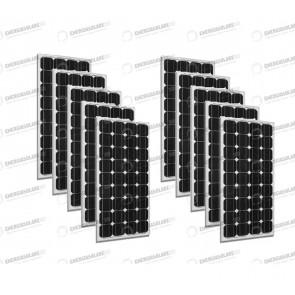 Set 10 x Pannelli Solari Fotovoltaico 300W Europeo 24V tot. 3000W Casa Baita Stand-Alone