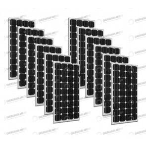 Set 12 x Pannelli Solari Fotovoltaico 300W Europeo 24V tot. 3600W Casa Baita Stand-Alone
