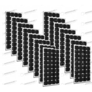 Set 15 x Pannelli Solari Fotovoltaico 300W Europeo 24V tot. 4500W Casa Baita Stand-Alone