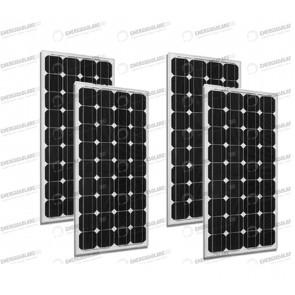 Set 4 x Pannelli Solari Fotovoltaico 300W Europeo 24V tot. 1200W Casa Baita Stand-Alone