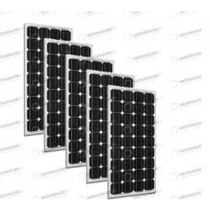 Set 5 x Pannelli Solari Fotovoltaico 300W Europeo 24V tot. 1500W Casa Baita Stand-Alone