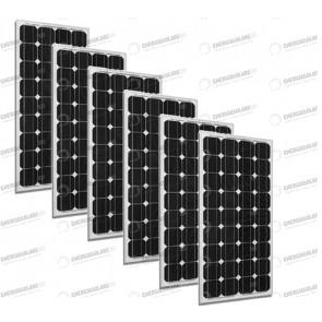 Set 6 x Pannelli Solari Fotovoltaico 300W Europeo 24V tot. 1800W Casa Baita Stand-Alone