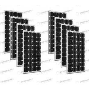 Set 8 x Pannelli Solari Fotovoltaico 300W Europeo 24V tot. 2400W Casa Baita Stand-Alone