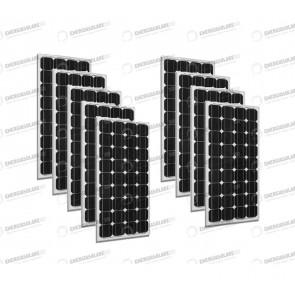 Set 9 x Pannelli Solari Fotovoltaico 300W Europeo 24V tot. 2700W Casa Baita Stand-Alone