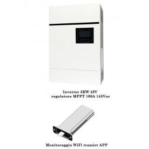 Inverter Solare Fotovoltaico Sunforce 5KW 48V Regolatore di Carica MPPT 6KW 100A 450Voc con monitoraggio WIFI