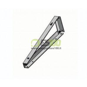 Supporto Triangolare Fisso a 10 Gradi Pannello Solare Fotovoltaico con Fissaggio senza Zavorra