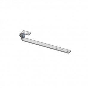 Staffa per copertura in ardesia TL080.ZN singola regolazione in acciaio zincato