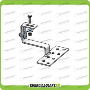 Staffa per Tegola con Singola Regolazione in Acciaio Zincato per pannello fotovoltaico TL099.ZN