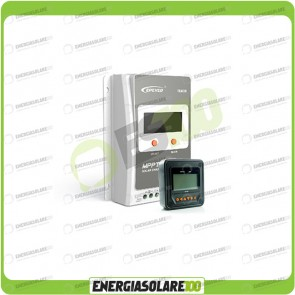 Kit Regolatore di Carica Epsolar Tracer Serie A 10A 12-24V 100Voc con Display MT-50