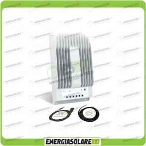 Kit Regolatore di Carica Epsolar Tracer Serie BN 20A 12-24V 150Voc con Cavo USB-RS485 con Sensore di Temperatura