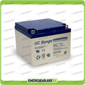 Batteria Solare AGM Ultracell 24AH 12V Deep Cycle x Impianti Stand-alone Inverter
