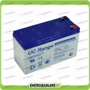 Batteria Solare AGM Ultracell 7.2AH 12V Deep Cycle x Impianti Stand-alone Inverter