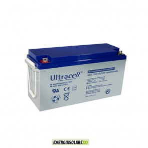 Batteria Ultracell Gel 150AH 12V Deep Cycle