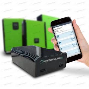 Web Control ES100 interfaccia comunicazione monitoraggio inverter ibrido connessione internet tablet cellulare PC