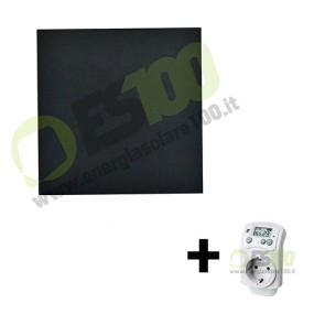 Kit Pannello Termico a Infrarossi 400W in Vetro + Termostato max 12mq