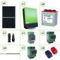 Impianto solare fotovoltaico 3.3KW 48V inverter ibrido ad onda pura V3 5KW MPPT 80A batteria acido libero piastra tubolare