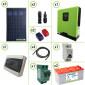 Impianto solare fotovoltaico 840W 24V inverter onda pura Edison30 3KW PWM 50A batterie piastra tubolare 200Ah per baita o casa di campagna