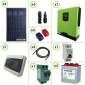 Impianto solare fotovoltaico 1120W 24V inverter onda pura Edison30 3KW PWM 50A batterie piastra tubolare 240Ah per baita o casa di campagna