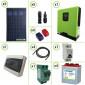 Impianto solare fotovoltaico 1400W 24V inverter onda pura Edison30 3KW PWM 50A batterie piastra tubolare 260Ah per baita o casa di campagna