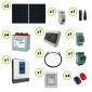 Kit fotovoltaico Solare 1.02KW pannelli solari Serie HF Inverter EPEver 3000W 24V sinusoidale pura con regolatore di carica MPPT 60A Batteria Acido Libero Piastra Tubolare 240Ah 6V
