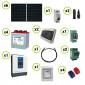 Kit fotovoltaico Solare 1.68KW pannelli solari Serie HF Inverter EPEver 3000W 24V sinusoidale pura con regolatore di carica MPPT 60A Batteria Acido Libero Piastra Tubolare 240Ah 6V