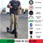 Monopattino Elettrico ONAN 250W 36V 7.8Ah Litio Multi Velocità Display Bluetooth Colore Nero