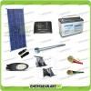 Kit Illuminazione Stradale a Led 25W 12V Batteria 100Ah Agm Luce Neutra Pannello Solare