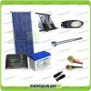 Kit Illuminazione Stradale a Led 25W 12V 100Ah Gel Luce Neutra Pannello Solare