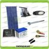 Kit Illuminazione Stradale a Led 25W 12V 100Ah Gel Luce Fredda Pannello Solare
