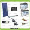 Kit Illuminazione Stradale a Led 34W 12V 2 Batterie da 100Ah Agm Luce Fredda Pannello Solare