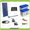 Kit Illuminazione Stradale a Led 34W 12V 2 Batterie da 100Ah Gel Luce Neutra Pannello Solare