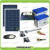 Kit Illuminazione Stradale a Led 42W 12V 2 Batterie da 100Ah Gel Luce Fredda Pannello Solare