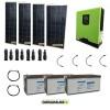 Kit impianto solare fotovoltaico 600W con inverter ibrido ad onda pura 1Kw 12V batterie 200Ah AGM
