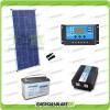 Kit baita pannello solare 150W 12V inverter onda pura 1000W batteria AGM 100Ah